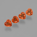 thumb image of 1.7ct Heart Facet Orange Sapphire (ID: 406562)