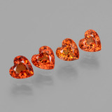 thumb image of 2.3ct Heart Facet Orange Sapphire (ID: 406566)