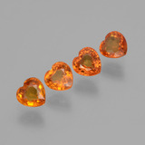 thumb image of 1.8ct Heart Facet Orange Sapphire (ID: 406568)