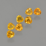 thumb image of 1.6ct Heart Facet Yellow Golden Sapphire (ID: 406581)