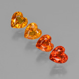 thumb image of 1.6ct Heart Facet Red Orange Sapphire (ID: 406586)