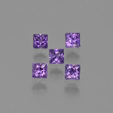 thumb image of 0.8ct Princess-Cut Pinkish Violet Sapphire (ID: 409391)
