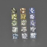 thumb image of 2ct Princess-Cut Multicolor Sapphire (ID: 411205)