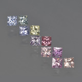 thumb image of 1.4ct Princess-Cut Multicolor Sapphire (ID: 411234)