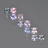 thumb image of 0.1ct Princess-Cut Multicolor Sapphire (ID: 411244)