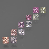 thumb image of 1.9ct Princess-Cut Multicolor Sapphire (ID: 411700)