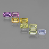 thumb image of 2.6ct Octagon Step Cut Multicolor Sapphire (ID: 412521)