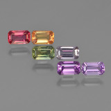 thumb image of 2.2ct Octagon Step Cut Multicolor Sapphire (ID: 412581)
