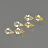 thumb image of 1.3ct Pear Facet Yellow Golden Sapphire (ID: 414507)