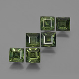 thumb image of 3.3ct Square Facet Green Sapphire (ID: 420244)