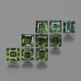 thumb image of 3.3ct Square Facet Green Sapphire (ID: 420247)