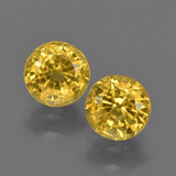 thumb image of 1.4ct Round Facet Yellow Golden Sapphire (ID: 420873)