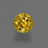 thumb image of 0.8ct Round Facet Yellow Golden Sapphire (ID: 421050)