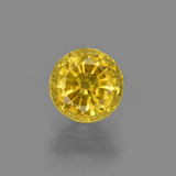 thumb image of 1ct Round Facet Yellow Golden Sapphire (ID: 421074)