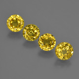 thumb image of 2.9ct Round Facet Yellow Golden Sapphire (ID: 421076)
