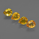 thumb image of 2.9ct Pear Facet Yellow Golden Sapphire (ID: 421829)