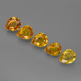 thumb image of 3.4ct Pear Facet Yellow Golden Sapphire (ID: 421837)