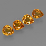 0.69 ct Pear Facet Deep Orange Sapphire Gem 5.95 mm x 4.9 mm (Photo B)