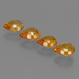 0.69 ct Pear Facet Deep Orange Sapphire Gem 5.95 mm x 4.9 mm (Photo C)