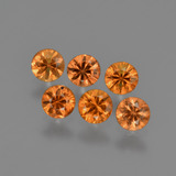 thumb image of 1.3ct Diamond-Cut Yellow Orange Sapphire (ID: 422766)