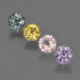 thumb image of 2.1ct Round Facet Multicolor Sapphire (ID: 423811)