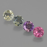 thumb image of 3.1ct Round Facet Multicolor Sapphire (ID: 423850)