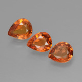 thumb image of 1.8ct Pear Facet Orange Sapphire (ID: 427357)