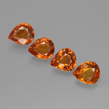 thumb image of 0.7ct Pear Facet Orange Sapphire (ID: 427362)