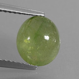 thumb image of 3.1ct Oval Cabochon Yellowish Green Sapphire (ID: 427868)
