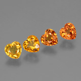thumb image of 1.5ct Heart Facet Yellow Orange Sapphire (ID: 428028)