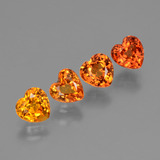 thumb image of 2.4ct Heart Facet Yellow Orange Sapphire (ID: 428034)