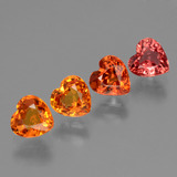 thumb image of 2.2ct Heart Facet Red Orange Sapphire (ID: 428036)