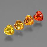 thumb image of 1.2ct Heart Facet Golden Orange Sapphire (ID: 428037)
