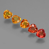 thumb image of 2.5ct Heart Facet Yellow Orange Sapphire (ID: 428281)