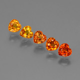 thumb image of 2.2ct Heart Facet Yellow Orange Sapphire (ID: 428283)