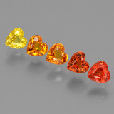 thumb image of 2.4ct Heart Facet Yellow Orange Sapphire (ID: 428284)