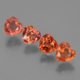 thumb image of 2.3ct Heart Facet Red Orange Sapphire (ID: 428709)