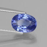 2.14 ct Oval Facet Blue Sapphire Gem 8.51 mm x 6.2 mm (Photo B)
