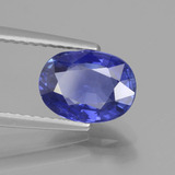 2.12 ct Oval Facet Deep Blue Sapphire Gem 8.66 mm x 6.4 mm (Photo B)