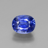 thumb image of 2.9ct Oval Facet Blue Sapphire (ID: 429677)