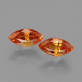 thumb image of 1ct Marquise Facet Yellow Orange Sapphire (ID: 429743)