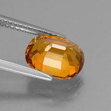 3.57 ct Oval Facet Yellow Golden Sapphire Gem 9.50 mm x 7.8 mm (Photo C)