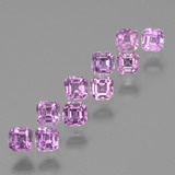 thumb image of 0.1ct Octagon Facet Royal Purple Pink Sapphire (ID: 435180)
