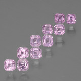 thumb image of 0.2ct Octagon Facet Light Royal Purple Pink Sapphire (ID: 435188)