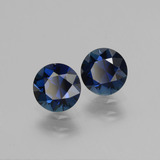 0.81 ct Diamond-Cut Blue Sapphire Gem 5.51 mm  (Photo B)
