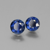 0.68 ct Diamond-Cut Blue Sapphire Gem 5.43 mm  (Photo B)