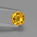 thumb image of 1.1ct Round Facet Golden Yellow Sapphire (ID: 443369)