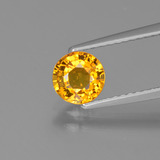 thumb image of 1.1ct Round Facet Golden Yellow Sapphire (ID: 443419)