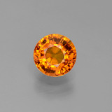 thumb image of 1.2ct Round Facet Yellow Orange Sapphire (ID: 443437)