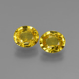 thumb image of 1.5ct Oval Facet Yellow Golden Sapphire (ID: 443536)